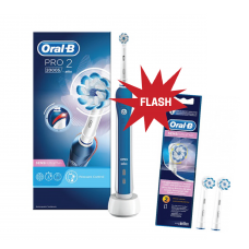 ESCOVA ORAL-B PRO 2 + RECARGAS ORAL-B SENSITIVE ULTRATHIN