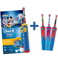 Oral-B Pack - Mickey Electric Toothbrush + Disney Electric Toothrush (Frozen, Star Wars or Avengers)